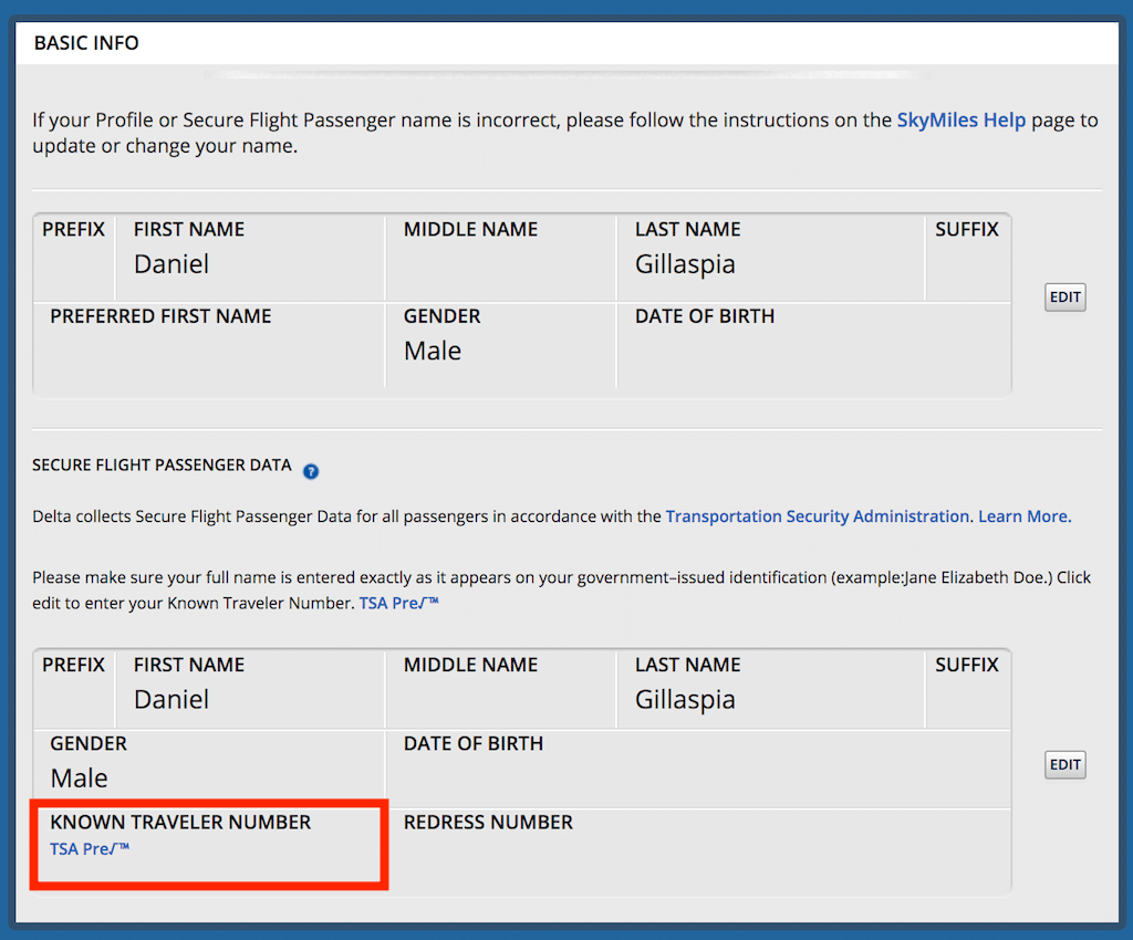 How to Add KTN to DELTA after Booking Flight
