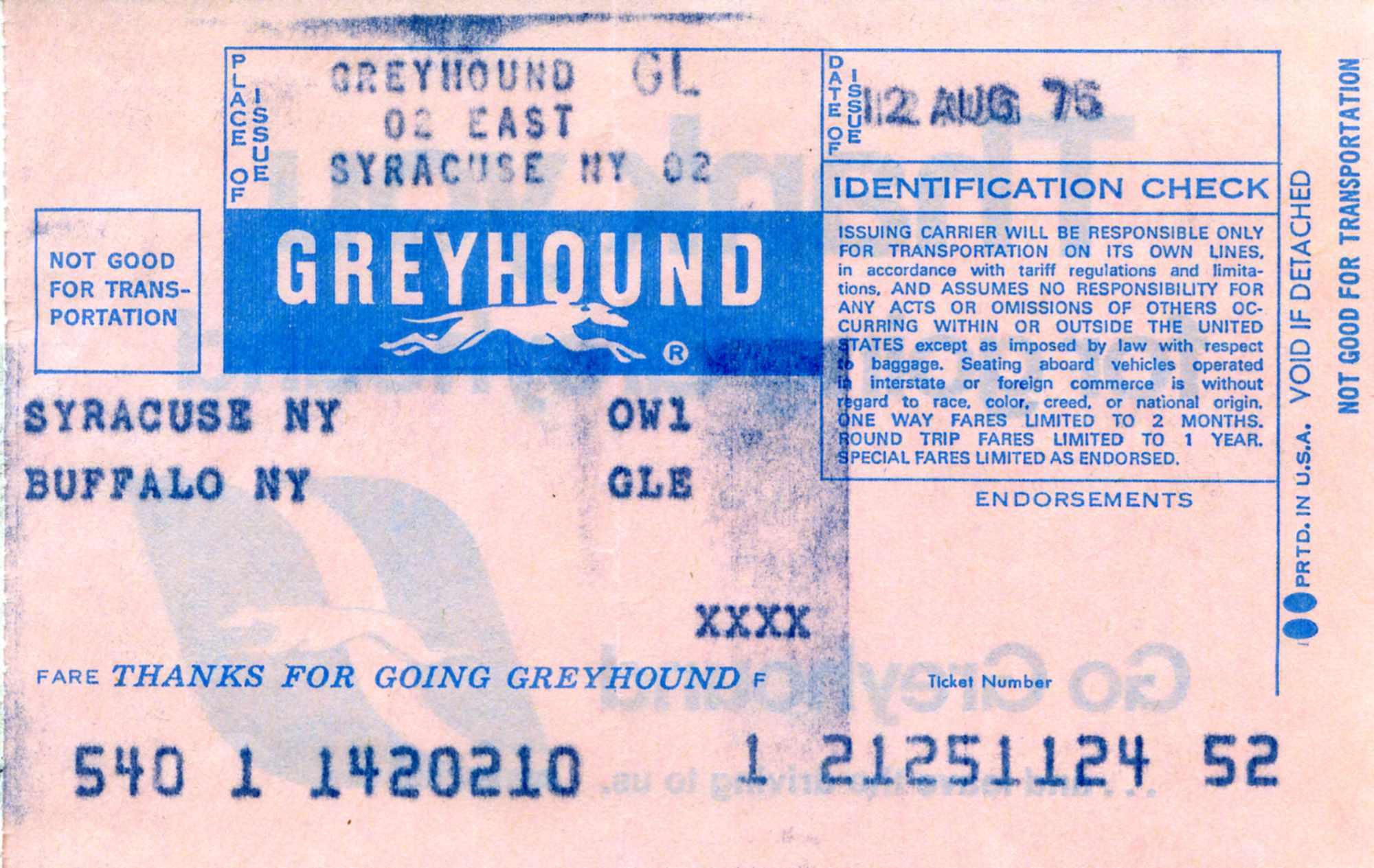 Grey hound Tickets